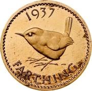 UK Farthing Edward VIII 1937 KM# Pn122 1937 HWP FARTHING coin reverse