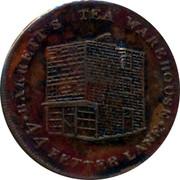 UK Farthing Tea Warehouse 1821 BARRET'S TEA WAREHOUSE 44 FETTER LANE coin obverse