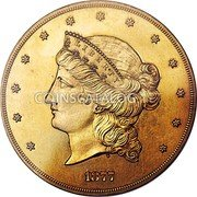 USA Fifty Dollars (Pattern) LIBERTY 1877 coin obverse