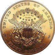 USA Fifty Dollars (Pattern) UNITED STATES OF AMERICA IN GOD WE TRUST FIFTY DOLLARS coin reverse