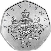 UK Fifty Pence (100th Anniversary of the Birth of Christopher Ironside. Piedfort) FIFTY PENCE 50 coin reverse