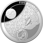 Australia Five Dollars Apollo 11 Moon Landing 2019 FIVE DOLLARS ELIZABETH II AUSTRALIA 2019 coin obverse
