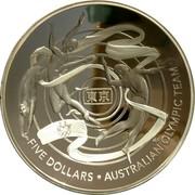 Australia Five Dollars Australian Olympic Team 2020 Proof FIVE DOLLARS AUSTRALIAN OLYMPIC TEAM coin reverse