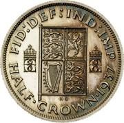UK Half-Crown Half Crown 1937 Proof KM# Pn130 FID DEF IND IMP HALF CROWN 1937 coin reverse