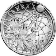 USA Half Dollar (Basketball Hall of Fame) LIBERTY IN GOD WE TRUST 2020 coin reverse