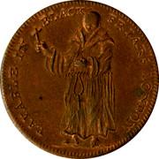 UK Halfpenny Blackfriars London Monk & City Arms Halfpenny ND PAYABLE IN BLACK FRIARS LONDON coin reverse