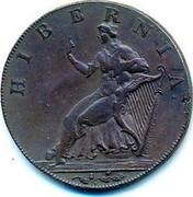 Ireland Halfpenny ND Token Coinage HIBERNIA coin obverse