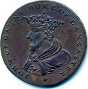 Ireland Halfpenny ND Token Coinage IOHN OF GAUNT DUKE OF LANCASTER coin reverse