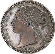UK One Decade Victoria (Pattern) 1848  VICTORIA REGINA 1848 coin obverse