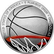 USA One Dollar (Basketball Hall of Fame. Colored) LIBERTY IN GOD WE TRUST JK P 2020 MG coin obverse