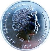 New Zealand One Dollar Chatham Island Crested Penguin 2020 Bullion NEW ZEALAND 999 AG 1OZ ELIZABETH II IRB 2020 coin obverse