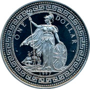 UK One Dollar Indian Independence 1997 UNC ONE DOLLAR 1997 coin obverse