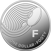 Australia One Dollar The Great Aussie Coin Hunt - F 2019 ONE DOLLAR FOOTY F coin reverse