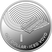 Australia One Dollar The Great Aussie Coin Hunt - Letter I 2019 I ONE DOLLAR ICED VOVO coin reverse