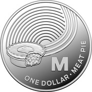 Australia One Dollar The Great Aussie Coin Hunt - Letter M 2019 M ONE DOLLAR MEAT PIE coin reverse