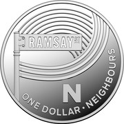 Australia One Dollar The Great Aussie Coin Hunt - Letter N 2019 RAMSAY ST NEIGHBOURS N ONE DOLLAR coin reverse