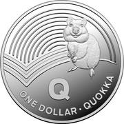 Australia One Dollar The Great Aussie Coin Hunt - Letter Q 2019 Q ONE DOLLAR QUOKKA coin reverse
