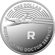 Australia One Dollar The Great Aussie Coin Hunt - R 2019 ONE DOLLAR ROYAL FLYING DOCTOR SERVICE R coin reverse