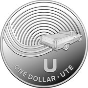 Australia One Dollar The Great Aussie Coin Hunt - U 2019 ONE DOLLAR U UTE coin reverse