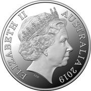 Australia One Dollar The Great Aussie Coin Hunt - W 2019 ELIZABETH II AUSTRALIA 2019 IRB coin obverse