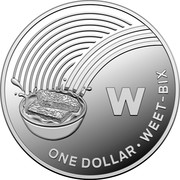 Australia One Dollar The Great Aussie Coin Hunt - W 2019 ONE DOLLAR WEET-BIX W coin reverse