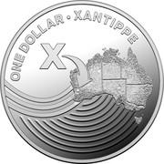 Australia One Dollar The Great Aussie Coin Hunt - X 2019 ONE DOLLAR XANTIPPE X coin reverse