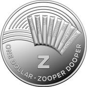 Australia One Dollar The Great Aussie Coin Hunt - Z 2019 ONE DOLLAR ZOOPER DOOPER Z coin reverse