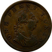 Ireland One Penny 1820 Republic ONE PENNY TOKEN coin obverse