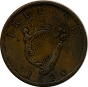 Ireland One Penny 1820 Republic IREL ND 1820 coin reverse