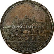 UK One Penny (Bilston - Collierriers and Iron Works) PRIEST FIELD FURNACES 1811 coin obverse