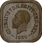 Australia One Penny George V (Kookaburra Pattern - Type 8) 1920 Pattern KM# Pn15 GEORGIVS V D.G.BRITT:OMN:REX 1920 coin obverse