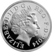 UK One Pound Floral emblems of Scotland. Piedfort 2013 Proof ELIZABETH II D G REG F D 2014 coin obverse
