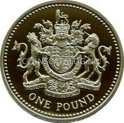 UK One Pound (Royal Arms) KM# 993c ONE POUND coin reverse