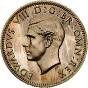 UK One Shilling Edward VIII 1937 Proof KM# Pn128 EDWARDVS VIII D G BR OMN REX HP coin obverse