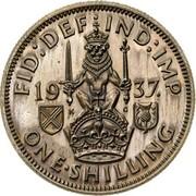 UK One Shilling Edward VIII 1937 Proof KM# Pn128 FID DEF IND IMP 19 37 K G ONE SHILLING coin reverse