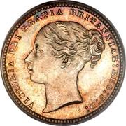 UK One Shilling (Victoria) KM# 734 VICTORIA DEI GRATIA BRITANNIAR REG F D coin obverse
