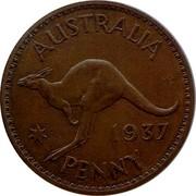 Australia Penny Edward VIII Pattern 1937 Pattern AUSTRALIA KG 1937 PENNY coin reverse