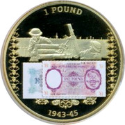 UK Pound British Military Money 2014 Proof 1 POUND 1943-45 coin obverse