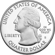 USA Quarter Dollar Weir Farm National Historic Site - Connecticut. 2020 S Proof UNITED STATES OF AMERICA IN GOD WE TRUST LIBERTY P JF WC QUARTER DOLLAR coin obverse