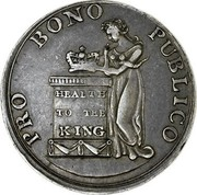 Ireland Shilling Public Happiness 1804  PRO BONO PUBLICO HEALTH TO THE KING coin obverse