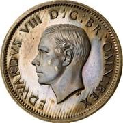 UK Sixpence Edward VIII 1937 Proof KM# Pn127 EDWARDVS VIII D G BR OMN REX coin obverse