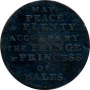 UK Token May peace & plenty ND MAY PEACE & PLENTY ACCOMPANY THE PRINCE & PRINCESS OF WALES coin obverse