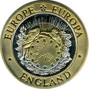 UK Twenty Five ECU St George 1992 UNC EUROPE EUROPA UNITED KINGDOM coin obverse