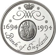 UK Two Pounds (300th Anniversary Bank of England (Piedfort)) WM 1694 1994 BANK OF ENGLAND coin reverse