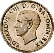 UK Two Shillings Edward VIII 1937 Proof KM# Pn129 EDWARDVS VIII D G BR OMN REX HP coin obverse