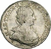 Belgium 1/2 Ducaton 1753 (h) R KM# 7 Standart Coinage coin obverse