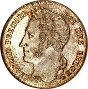 Belgium 1/2 Franc Leopold I 1835 KM# 6 LEOPOLD PREMIER ROI DES BELGES BRAEMT F. coin obverse