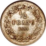 Belgium 1/2 Franc Leopold I 1835 KM# 6 1/2 FRANC 1835 coin reverse