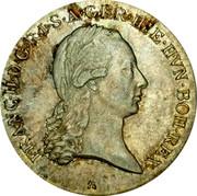 Belgium 1/2 Kronenthaler 1797 A KM# 61.1 Standart Coinage FRANC II D G R I S A GER HIE HVN BOH REX coin obverse