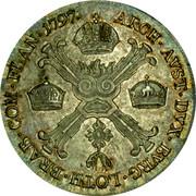 Belgium 1/2 Kronenthaler 1797 A KM# 61.1 Standart Coinage ARCH AVST DVX BVRG LOTH BRAB COM FLAN 1797 coin reverse
